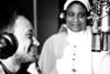 Sr. Anne and Nino Marchi singing  during the registration of the track Jesu enyim oma.